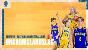 Ungdomslandslagens trupper till Baltic Sea Basketball Cup uttagna